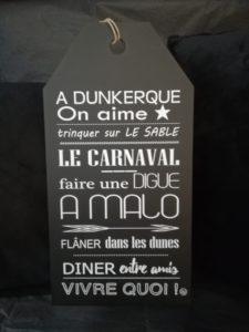 """ETIQUETTE """"A DUNKERQUE, ON AIME…"""" NOIRE"""
