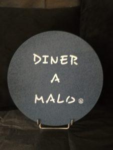 """DESSOUS DE PLAT LIEGE """"DINER A MALO"""" MARINE"""