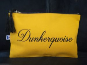 "POCHETTE ZIPPEE ""DUNKERQUOISE"" MOUTARDE"
