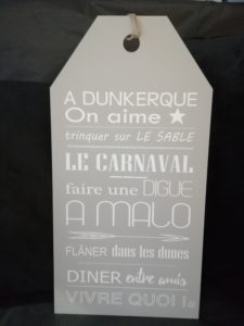 "ETIQUETTE ""A DUNKERQUE, ON AIME…"" TAUPE"