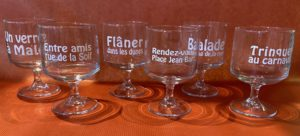 "6 VERRES A PIEDS EMPILABLES ""DUNKERQUE"""