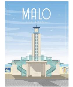 AFFICHE «LE POSTE BLEU» DE MALO