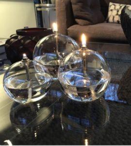 LAMPE A HUILE BOULE GM