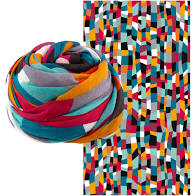 FOULARD SCARF ACCORDEON