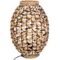 LAMPE TUBE FIBRES NATURELLES H36CM